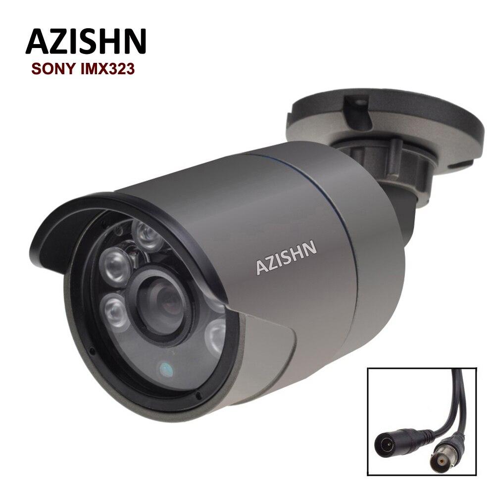 HD 1080 P AHD Caméra de Sécurité Sony IMX323 Capteur 2MP Caméra de Surveillance 6 pcs Led Array Nuit Vision CCTV Étanche caméra