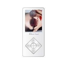 De Metal de alta calidad Reproductor de MP3 Altavoz Incorporado 8 GB con Radio FM, E-Book, Grabadora de Voz de Sonido Sin Pérdidas Walkman blanco