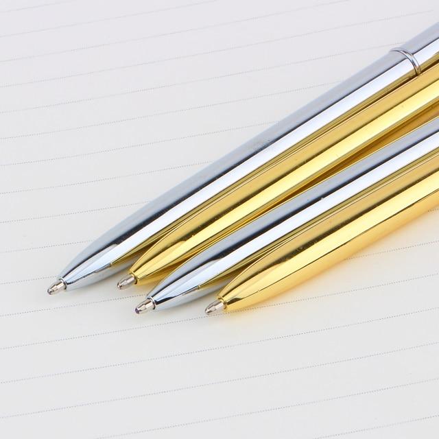 Mont Boligrafos Slanke Licht Goud En Zilver Kleur Roterende Balpen Slanke Commerciële Metalen Vette Gift Gratis Shippin