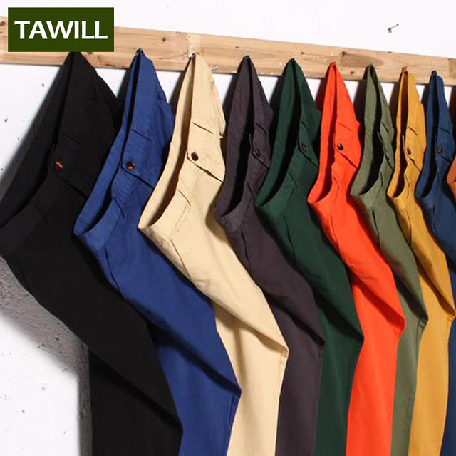 TAWILL casual cotton Men pants 2016 New 11 Colors Plus size 44 46 48 63051