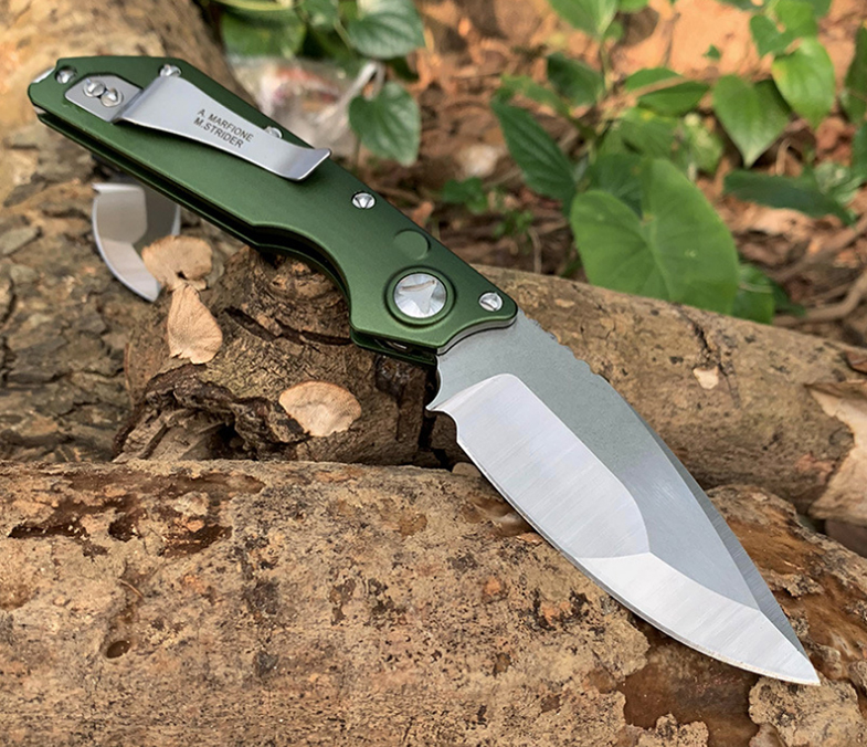 Stitch Folding Knife M390 ELMAX Blade Aluminum Alloy Handle Flipper Outdoor Tactical   Camping Hunting EDC Utility Pocket Knives