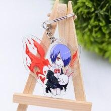 Tokyo Ghoul Keychain Cute Double Sided Kaneki Ken Key Chain Pendant