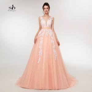 2e9bbe5e2cd SoDigne Wedding Dress 2018 Beaded Plus Size A-Line Long