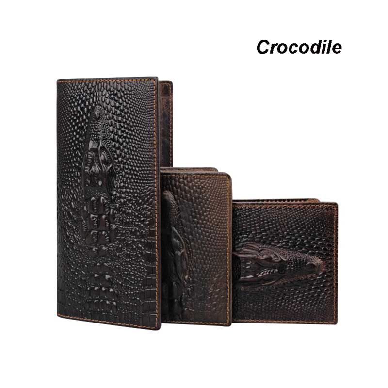 Handbag, Wallets, Long, Genuine, Leather, Male
