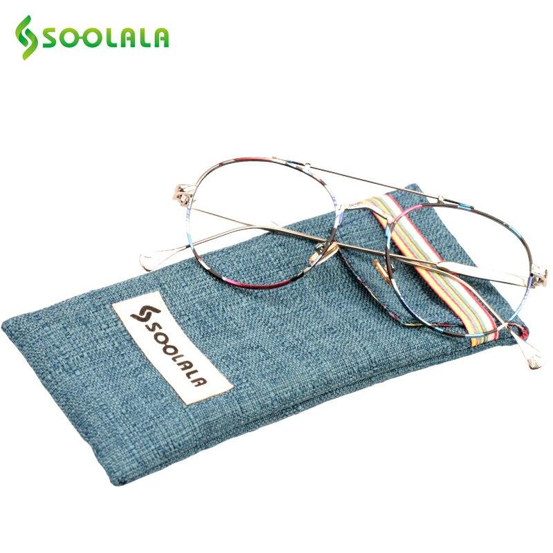 SOOLALA 2017 Oversized Reading Glasses Round Metal Frame Women Men Reading Glasses+0.5 1.25 1.75 2.25 2.75 to 4.0