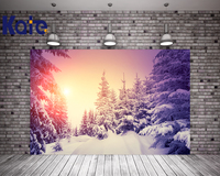 Kate Winter Snow Photography Backdrops Ice Trees Blue Sky Backgrounds For Photo Studio Sunset Microfiber Backdarops
