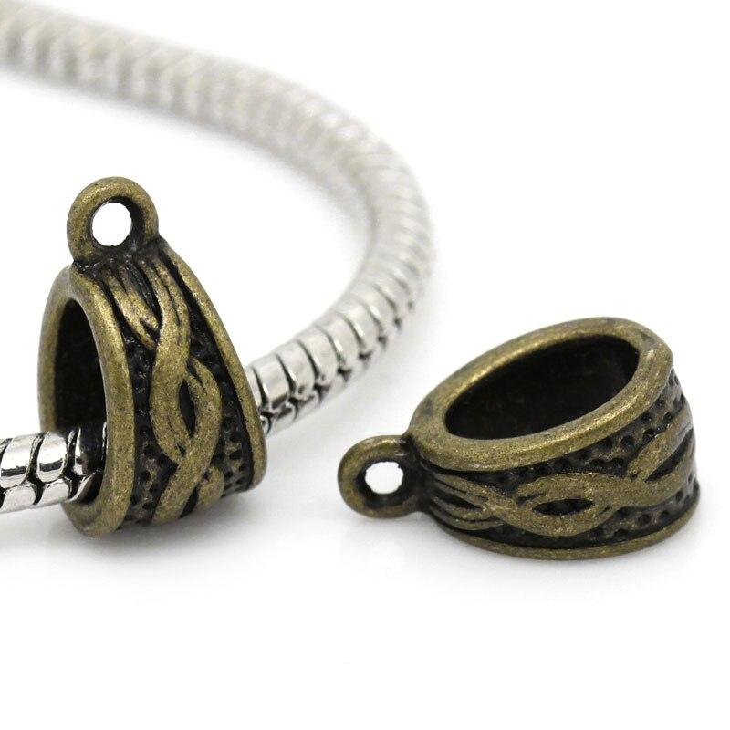 European Style Bails Beads Triangle Antique Bronze Pattern Pattern 14mm( 4/8