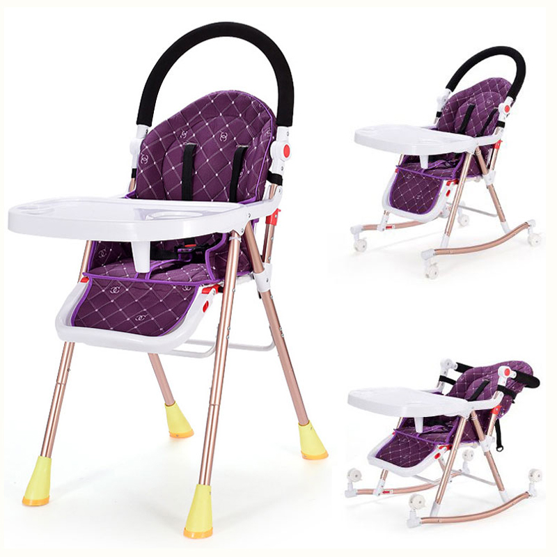 цена на 3 In 1 Multifunctional Baby Highchair Dining Seat Table Chair Folding Portable Baby Wheelchair Adjustable Baby Rocking Chair