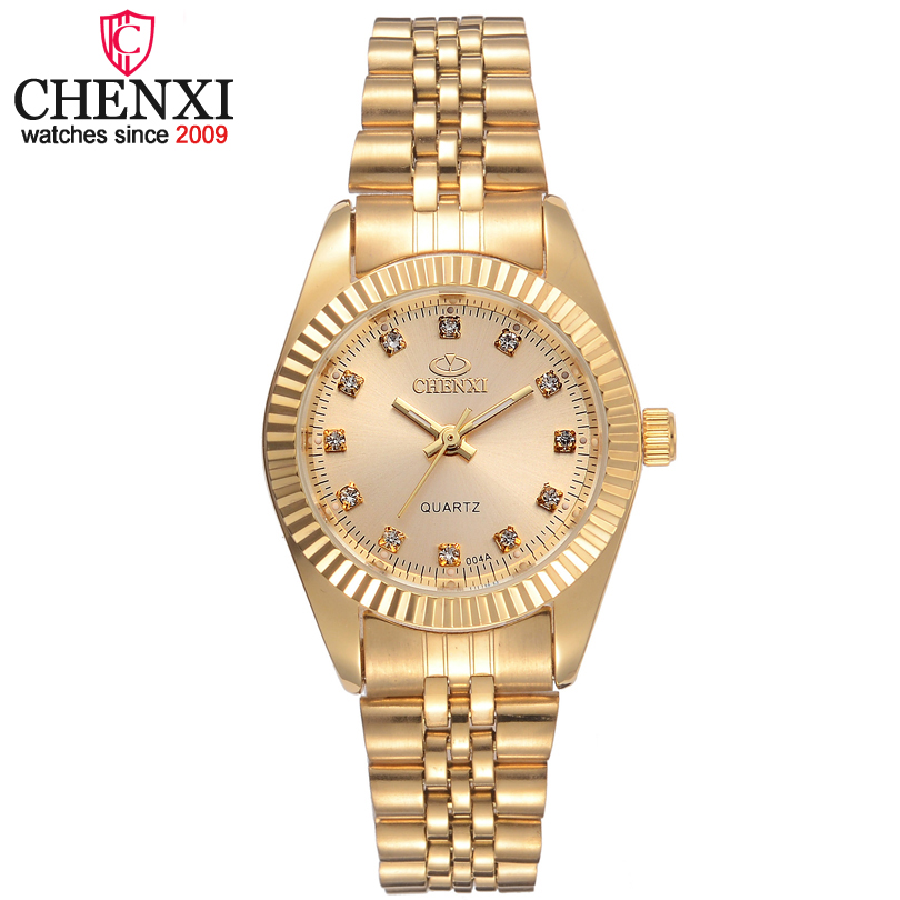 CHENXI Brand Girl Watch Women Fashion Casual Quartz Watches Ladies Gloden Stainless Steel Female Gifts Clock Wristwatch