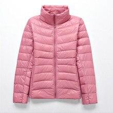 2019 brand 90%white duck down ultra light jackets women autumn winter down