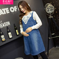 New Autumn and Winter Denim Dress for Pregnancy  Maternity Dress Clothes for Pregnant Women