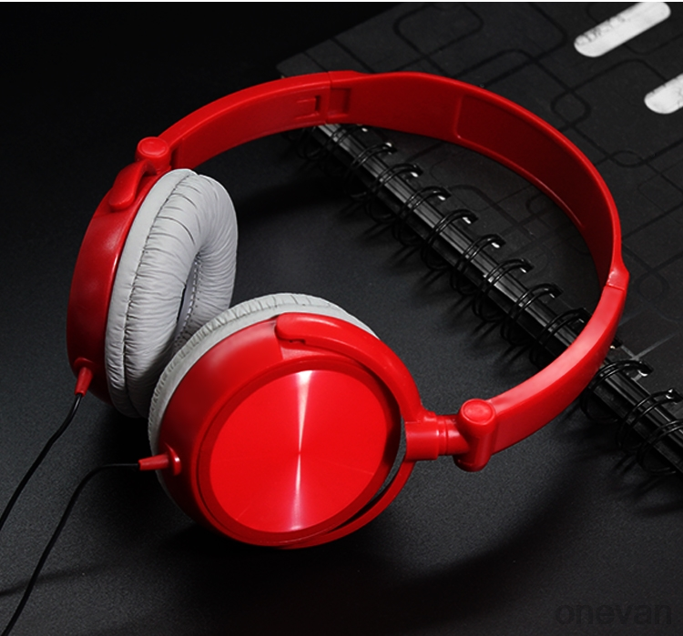 ONEVAN Wired <font><b>Headphones</b></font> With Microphone Stereo Earphone Over Ear Headsets Bass HiFi Sound Music For iPhone Xiaomi Sony Huawei