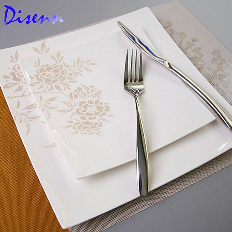 Compra platos cuadrados online al por mayor de china for Platos cuadrados de porcelana
