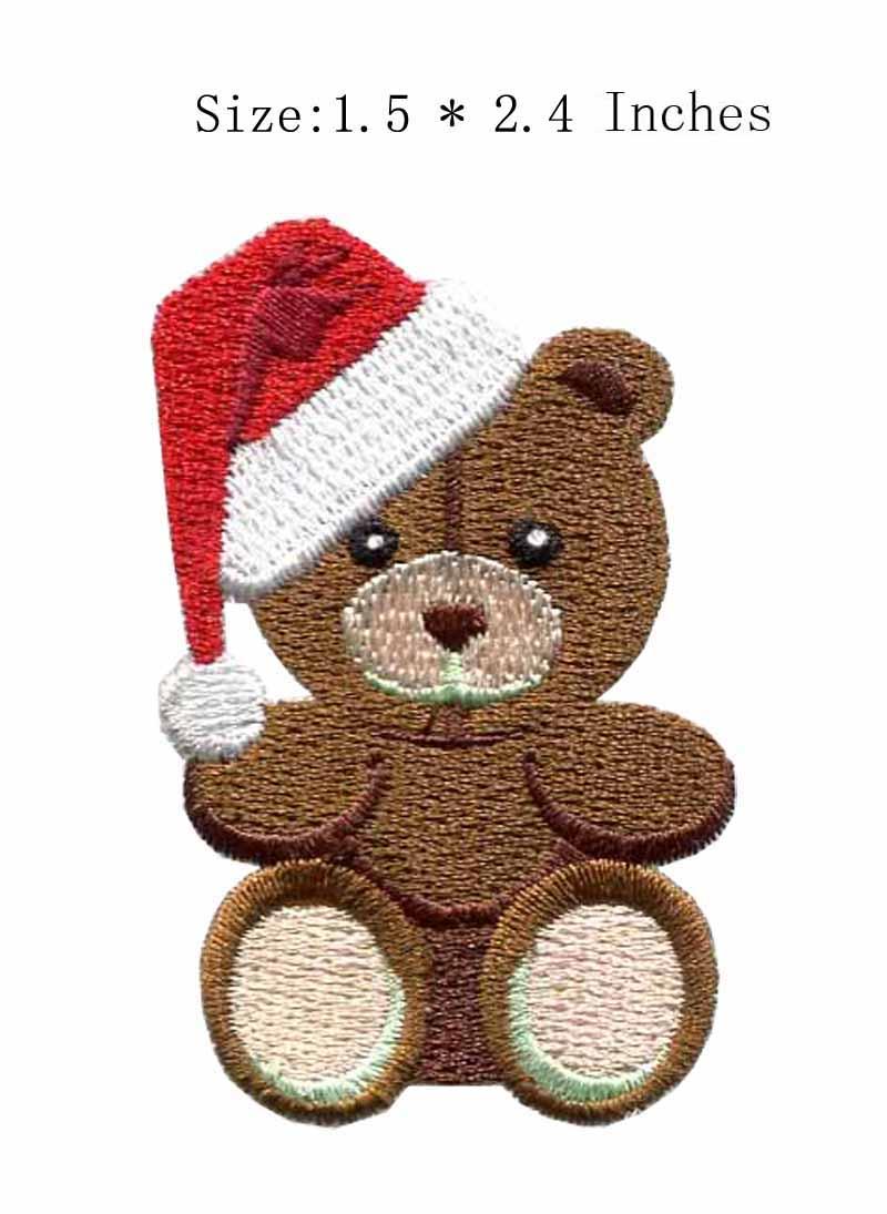Бурый медведь 2.4 High вышивка патч для коричневого цвета/red hat/игрушки патч