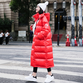 Winter Woman Coats 2019 Medium  Long Section Thick Down Feather Padded Clothes Harajuku Style Bread Service Women' Winter Jacket