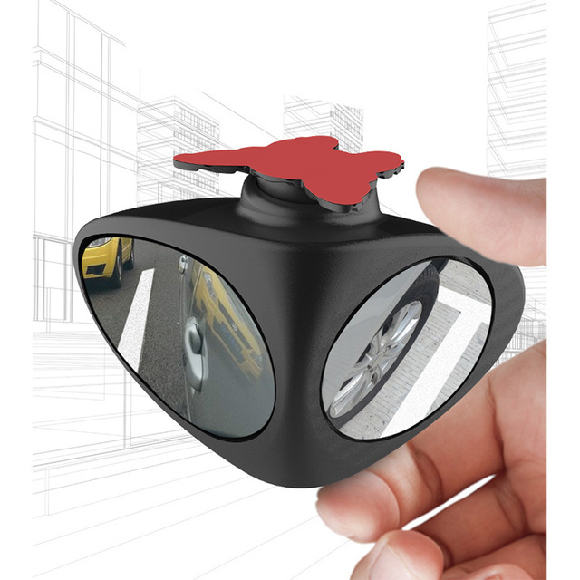 360 Deg Rotatable 2 Side Car Blind Spot Convex Mirror Automibile Exterior Rear View Parking Mirror Safety Accessories Reversing 5