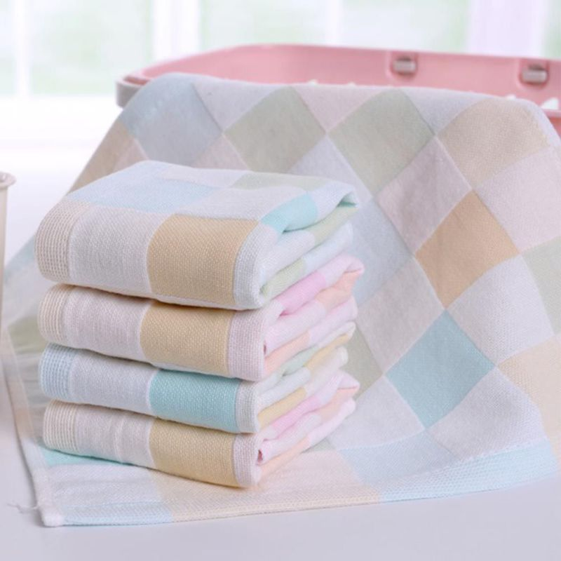 2018 Gauze Newborn Baby Infant Cartoon Face Hand Bathing Towel Bibs Feeding Square Towels Handkerchief S2 babyruler baby cotton towel slobber increase handkerchief gauze of children