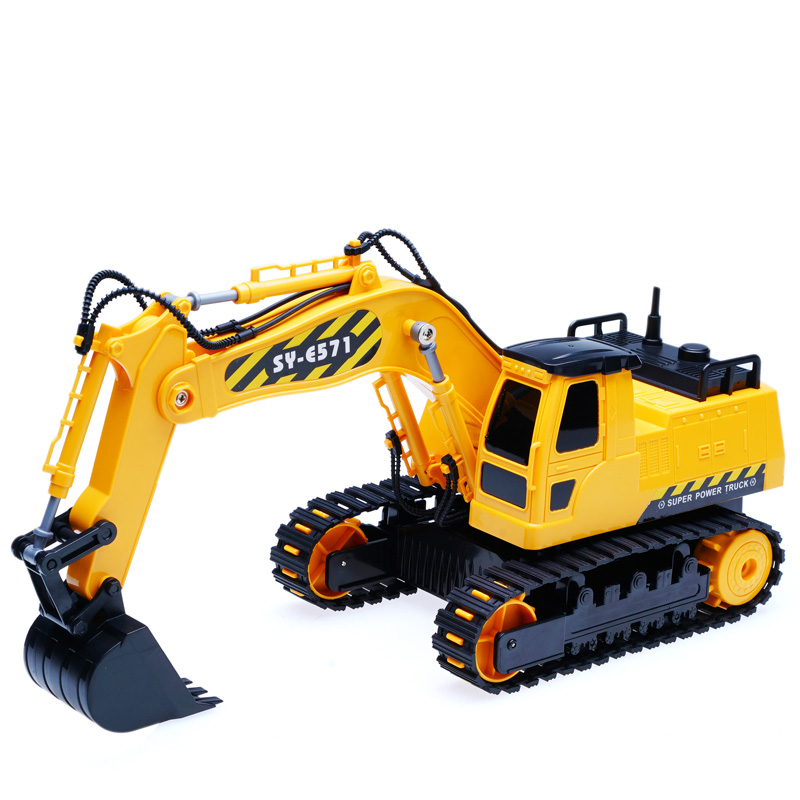 HELIWAY 1:26 Original RC Truck Excavator Toy 2.4G RC Metal Excavators Remote Control Engineering Truck Model Vehicle Toys