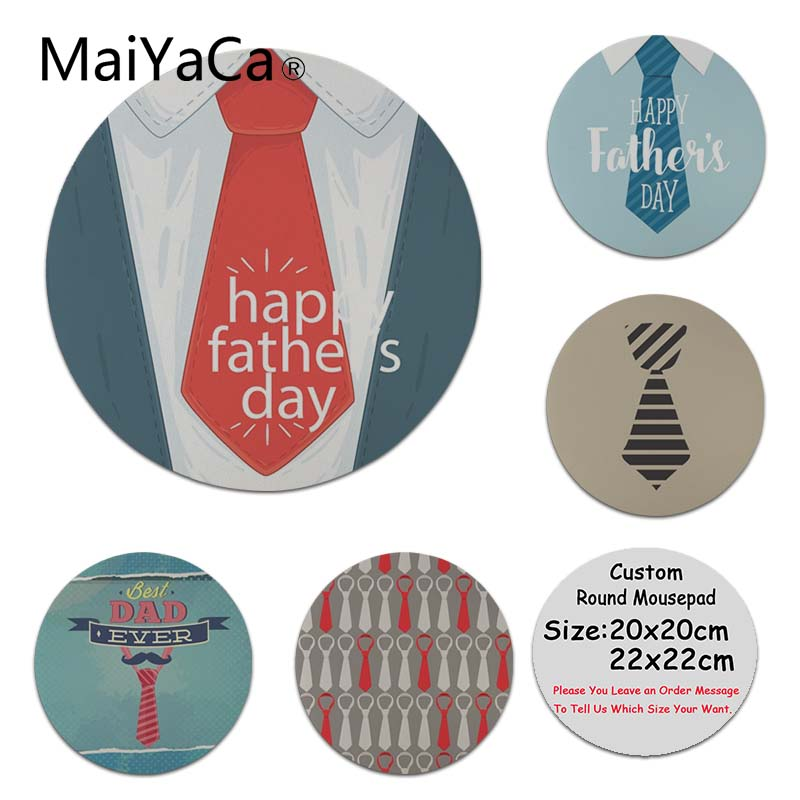 MaiYaCa Funny Happy Father Day Tie High Speed New Mousepad New Personalized print Mousepad