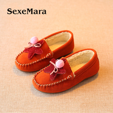 Winter new children's shoes five-pointed cotton shoes casual shoes Girls are comfortable and warm plus cashmere shoes