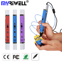 New Magic 3d printer pen Drawing 3D Pen Original Myriwell 3D Printing 3d pens for kids birthday present Useful gifts