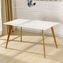 Обеденные столы, мебель для столовой, мебель для дома, журнальный столик из цельного дерева, минималистичный современный кухонный стол, новинка 140*80*75 см