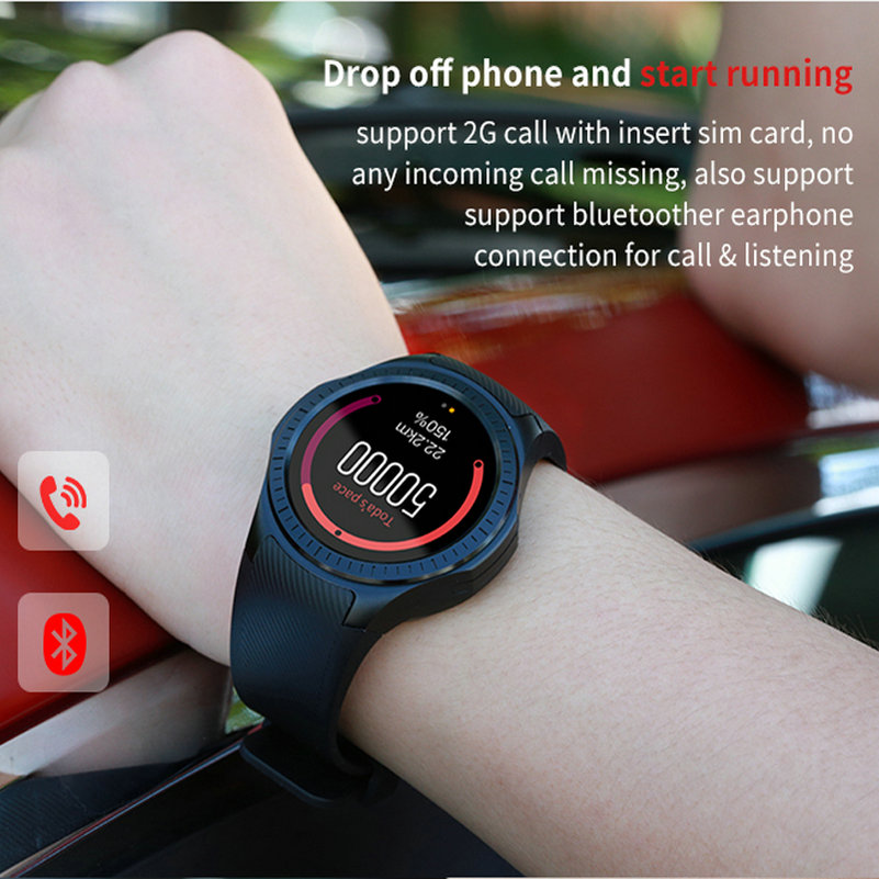 US $49 99 |Bluetooth Smart Watch L1 Phone Full Round Circle Wrist  Smartwatch MTK2502 APK for Apple iPhone 6 6S android for samsung s5 s7  s4-in Smart