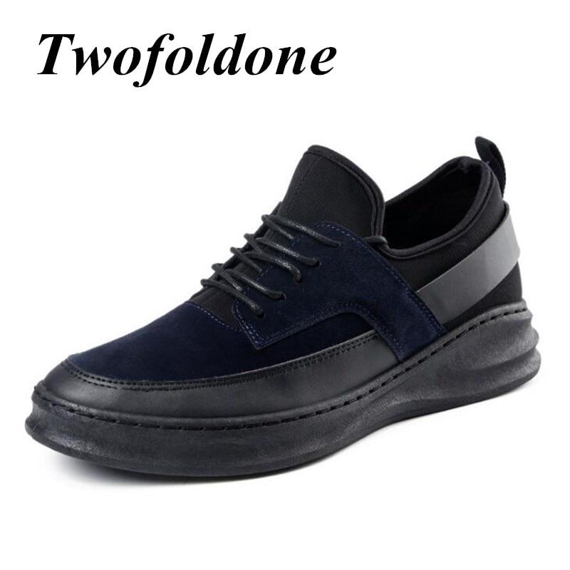British hombres Zapatillas de Marca para Los Hombres de Cuero Mate Zapatos Tende
