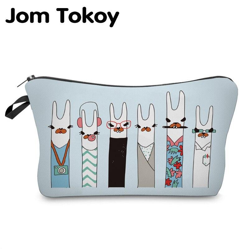 Jom Tokoy Cosmetic Organizer Bag Make Up Printing Llama Cosmetic Bag Fashion Women Brand Makeup Bag Hzb928
