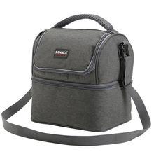 Двухуровневая изолированная сумка для ланча Женская Термосумка