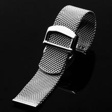 PEIYI сетчатый ремень из нержавеющей стали, серебряный Миланский ремешок, сменный мужской ремешок для часов, серия инженеров IWC
