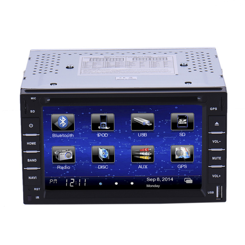 6 2 Din Car Player Navigation Radio Multimedia HD Entertainment System for Car With DVD MP4 USB SD AM FM RDS Bluetooth GPS home entertainment system