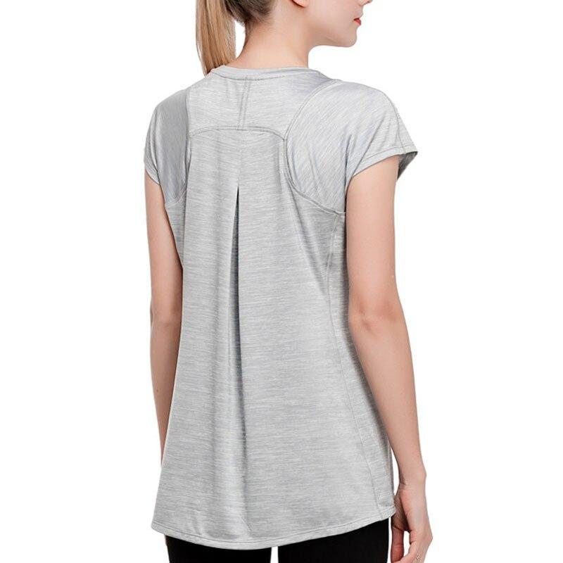 Yoga Shirt Women Fitness Clothing Sport Short Sleeve