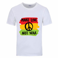 Make love not war Funny T Shirts 2017 mermaid twenty one pilots rock colete Men tshirts male t-shirt linkin park chester mets