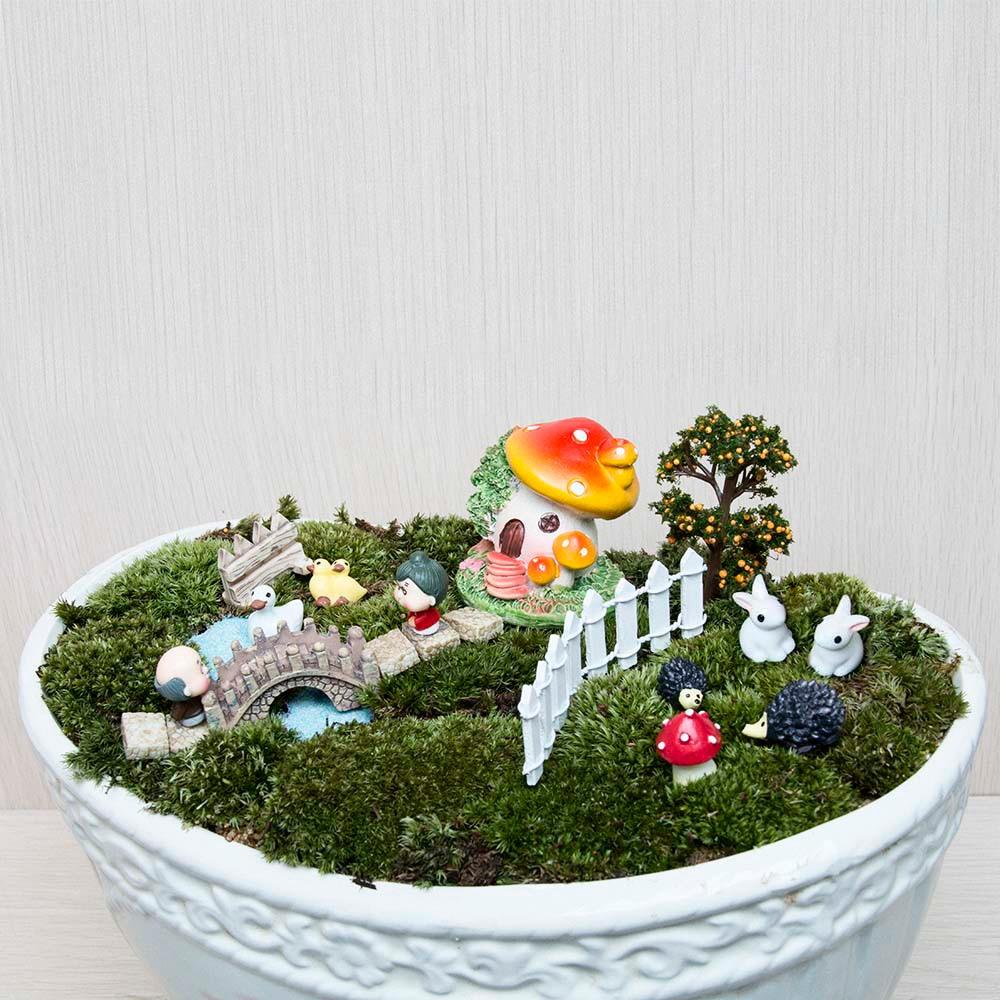 18pcs / set Μικρό τοπίο σπίτι Bonsai DIY κούκλα - Διακόσμηση σπιτιού - Φωτογραφία 5