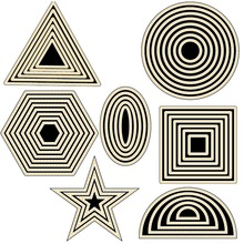 New basic graphic shape mold cutting metal making DIY scrapbook album decorative embossing
