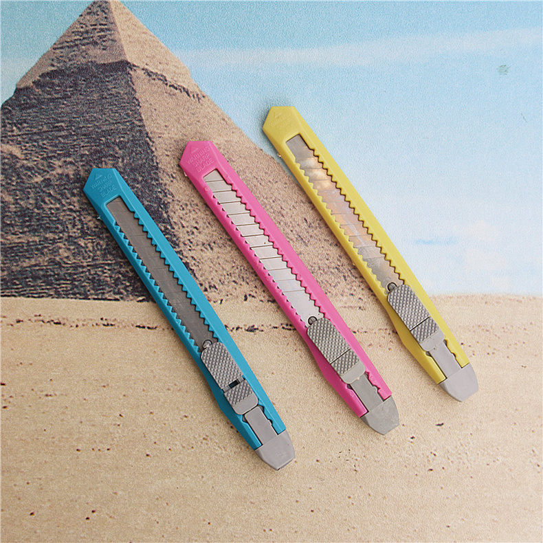 3PCS/lot Smaller Utility Knife Plastic Telescopic Knife Cut Paper Office And School Stationery Supplies