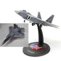 For Collection 1/72 F22 Military Alloy Diecast Simulation Aircraft Raptor Fighter Airplane with Stand Model for Boys Children