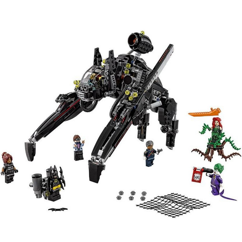 07056 LEPIN Batman Series The Scuttler Model Building Blocks Classic Enlighten DIY Figure Toys For Children Compatible Legoe 7112 decool batman chariot superheroes the batwing model building blocks enlighten diy figure toys for children compatible legoe