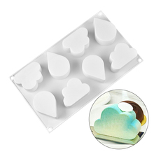 New Cloud Waterdrop Shaped Silicone Cake Mold Pan for Baking Chocolate Muffin Pudding Dessert Fondant Molds Bakeware Tools