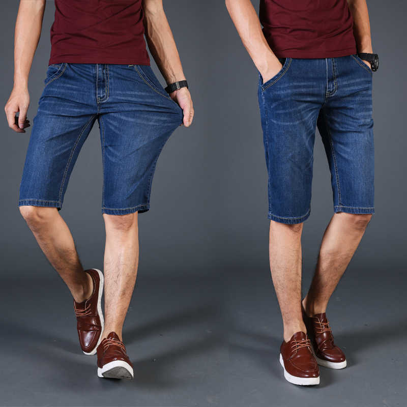 Nieuwe 2019 Zomer Denim Shorts Mannen Fashion Jeans Casual Katoenen Slim Fit Hoge Kwaliteit Merk Kleding big size 28- 40 42 44 4