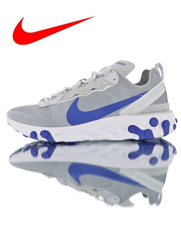 546eaf481f0fc Original Nike React Element 55 Men s Running Shoes New Outdoor Sports Shoes  Shock Absorption Non-slip Breathable BQ6166-005