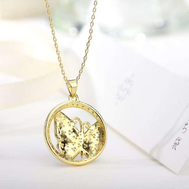 Neoglory Gold Plated Colorful Enamel Butterfly Necklaces Pendants Fashion Indian Jewelry Birthday Gifts 2017 New ENA1 JS6 But-e