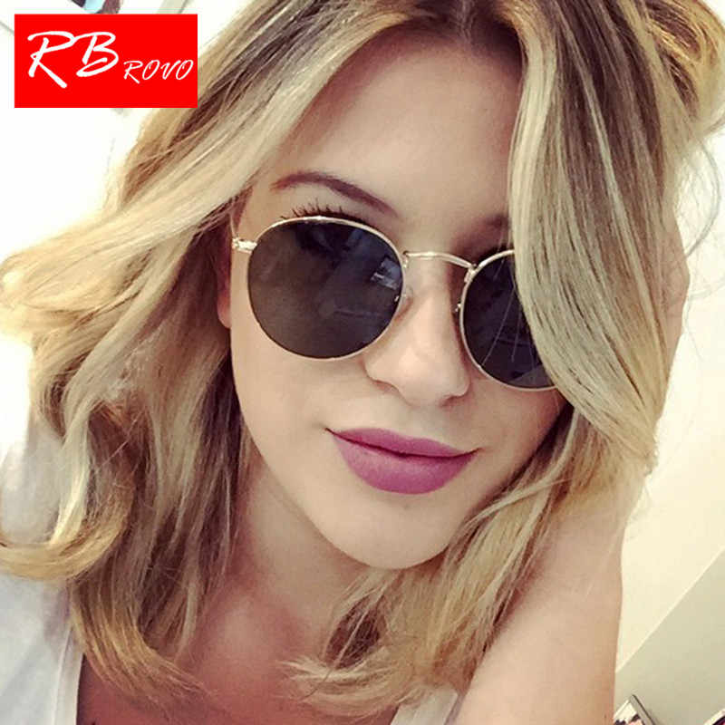 db9cb7f921efe RBROVO 2019 New Street Beat Sunglasses Women Classic Vintage Glasses Men  Round Vintage Shopping Mirror Oculos