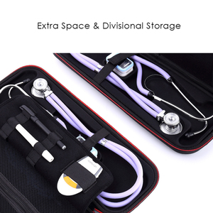 Image 2 - Multifunction Top Stethoscope Hard Carrying Bag Case For 3M Littmann Classic III / MDF / ADC / Omron,Mesh Pocket for acceeories