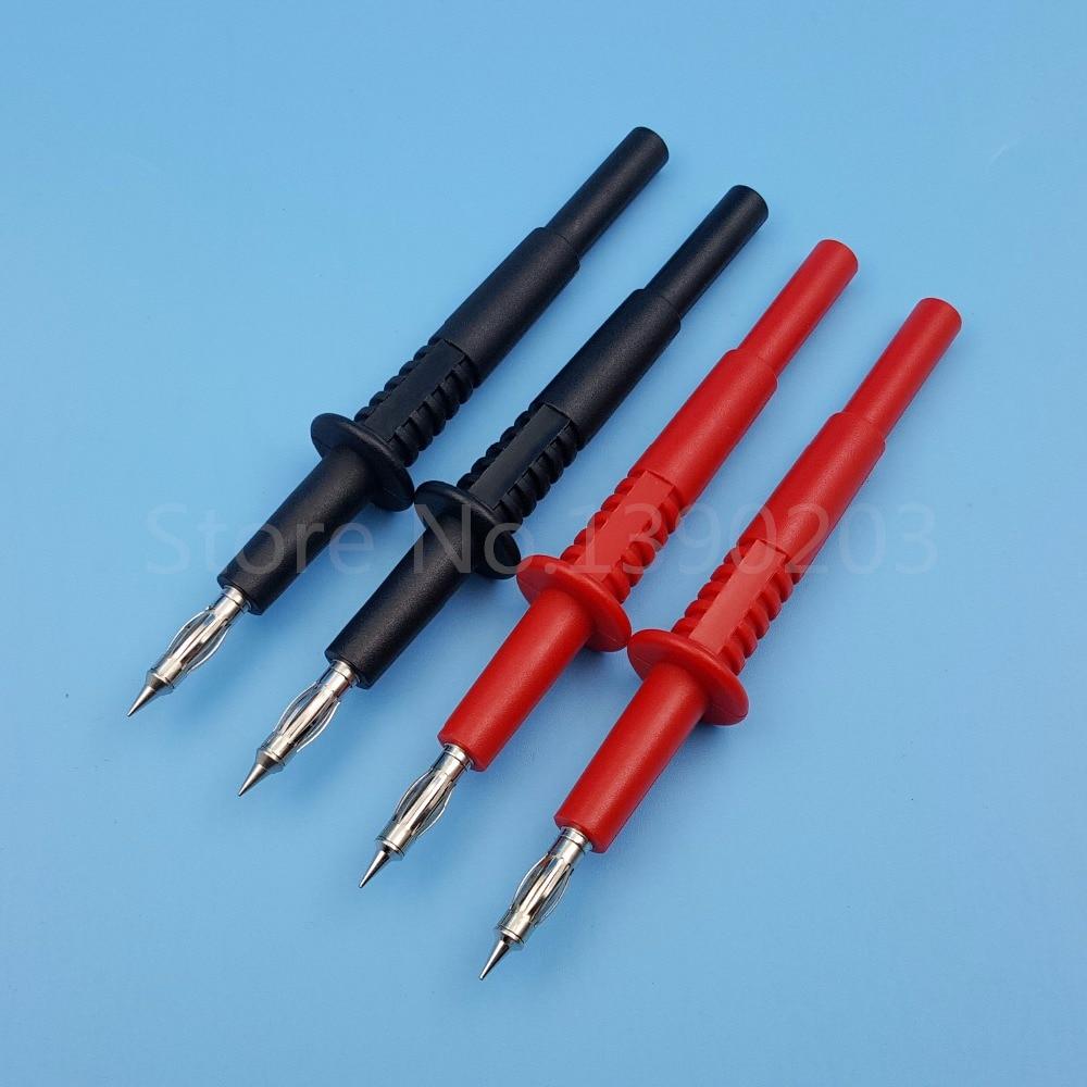 2Pairs 4mm Brass Banana Male Plug Test Probe Pin Pen for Multimeter Oscilloscope set fork alligator 4mm banana plug 2mm test probe clamp meter multimeter pen