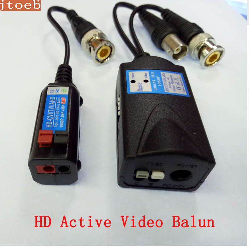 HD Active Video Balun Transmit Pal/NTSC CVI /TVI/AHD /CVBS Video Signal Via  UTP DC 12V Power Supply  Up To 400m,work With Passi