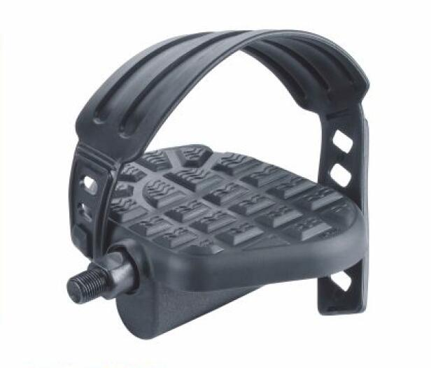 Bike Pedals,Black Set With Straps