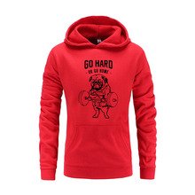 Dog Print Solid Fleece Hooded Pullover High Street Fashion