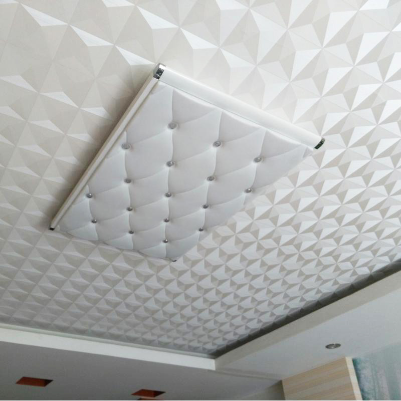Us 25 83 23 Off Modern Simple 3d Stereo Geometric White Wallpaper For Wall Bedroom Living Room Ceiling Home Decor Pvc Waterproof Wall Paper Roll In